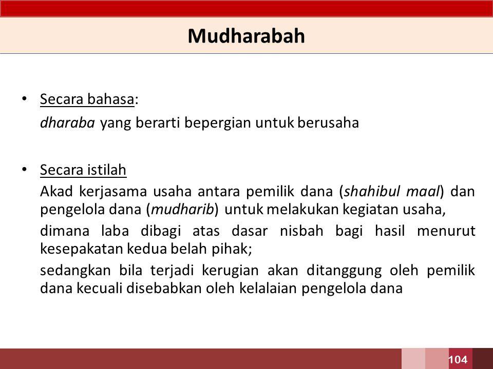 AKAD BAGI HASIL – PEMBIAYAAN MUDHARABAH 103
