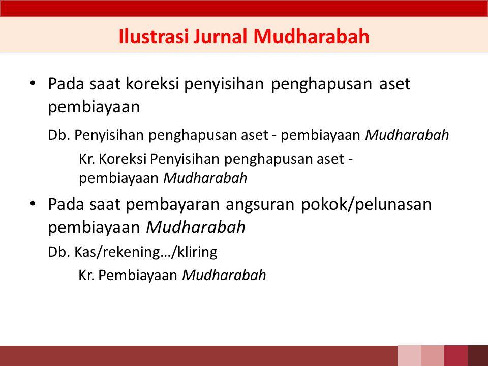 Ilustrasi Jurnal Mudharabah Pada saat pemberian pembiayaan Mudharabah kepada mudharib Db.