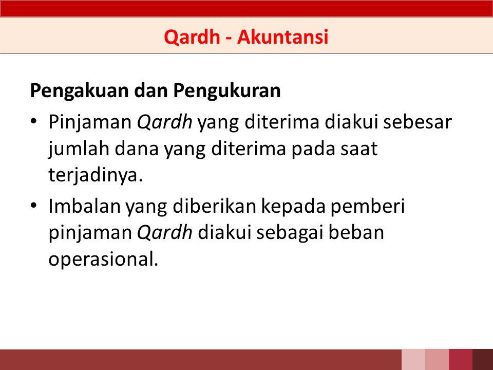 Qardh – Penjelasan Pinjaman Qardh yang diterima merupakan pinjaman yang tidak mempersyaratkan adanya imbalan.