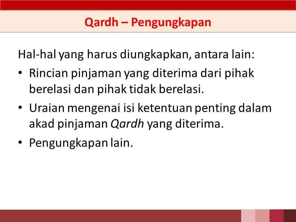 Qardh – Ilustrasi Jurnal Ilustrasi Jurnal Pada saat pinjaman Qardh diterima Db.