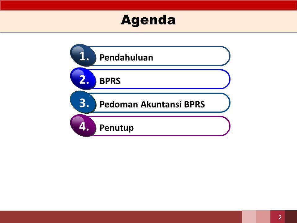 Pedoman Akuntansi BPRS Tujuan dari penyusunan Pedoman Akuntansi Perbankan Syariah Indonesia bagi Bank Pembiayaan Rakyat Syariah (untuk selanjutnya disebut Pedoman ) – Membantu Bank menyusun Laporan Keuangan supaya sesuai dengan tujuan Laporan Keuangan – Menciptakan keseragaman penerapan perlakuan akuntansi dan penyajian Laporan Keuangan sehingga meningkatkan daya banding antara Laporan Keuangan Bank.