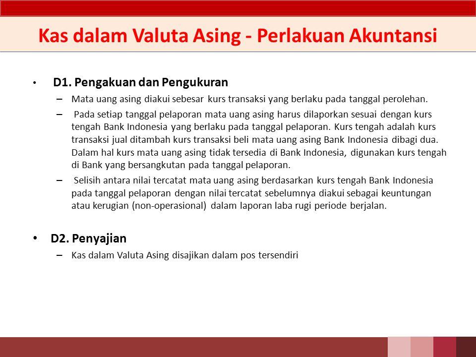 Kas Dalam Valuta Asing - Penjelasan Kas dalam valuta asing yang dapat dimiliki oleh Bank sesuai dengan peraturan yang berlaku.