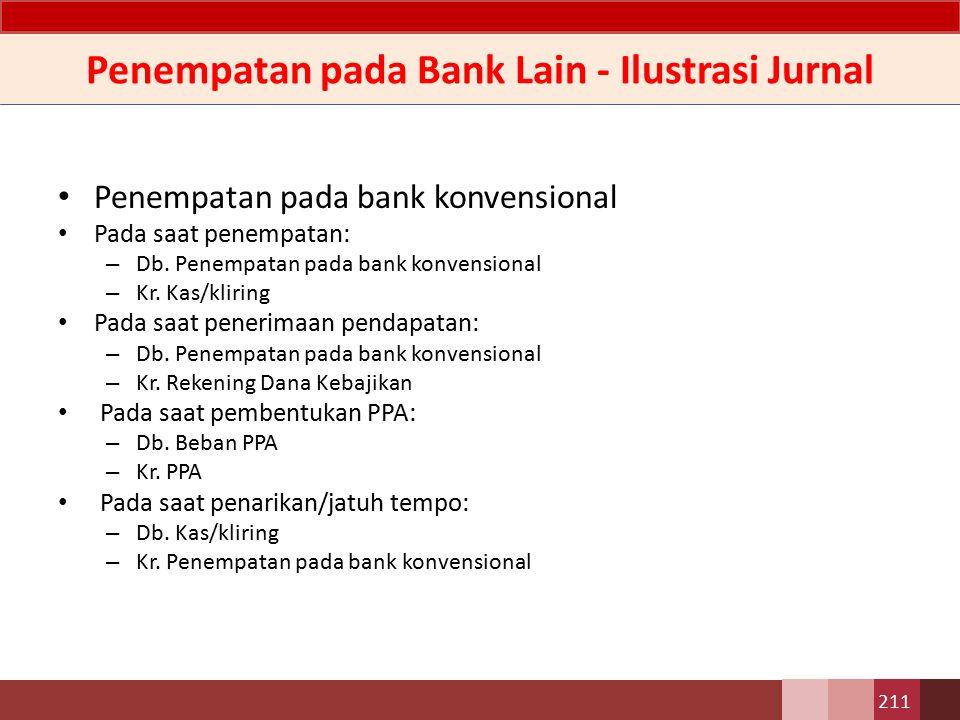 Penempatan pada Bank Lain - Ilustrasi Jurnal Penempatan pada Bank lain Pada saat penempatan: – Db.