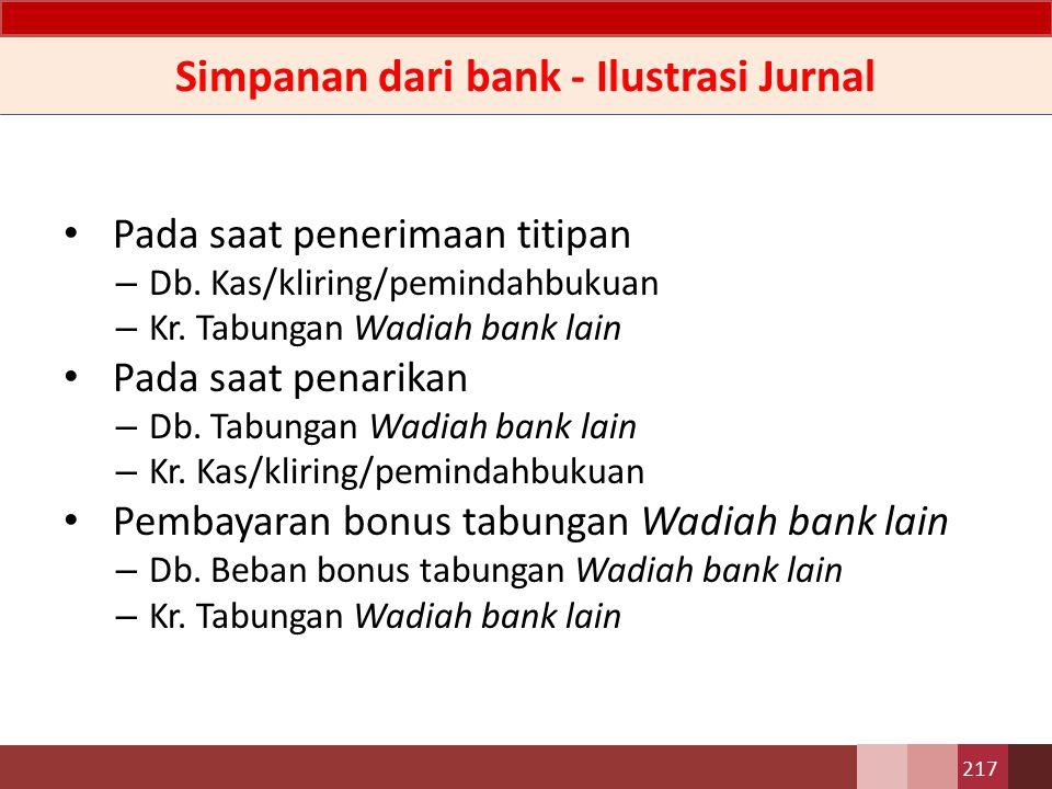 Simpanan dari bank - Perlakuan Akuntansi D1.