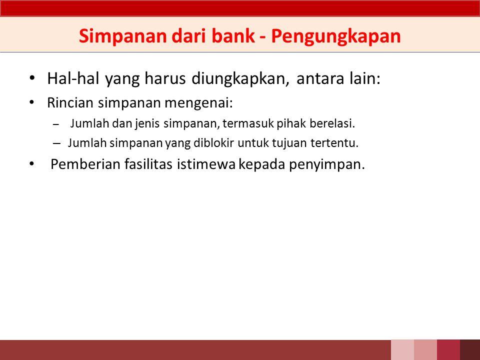 Simpanan dari bank - Ilustrasi Jurnal Pada saat penerimaan titipan – Db.