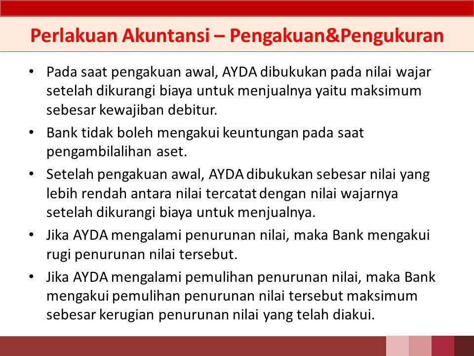 Penjelasan Bank wajib melakukan upaya penyelesaian terhadap AYDA yang dimiliki yaitu mengupayakan penjualan dengan segera serta mendokumentasikan upaya penyelesaian tersebut..