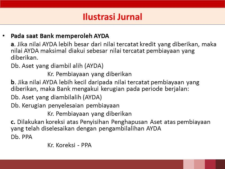 Perlakuan Akuntansi - Penyajian AYDA disajikan secara terpisah dari aset lainnya sebesar nilai tercatat atau nilai wajar setelah dikurangi biaya untuk menjual, mana yang lebih rendah.