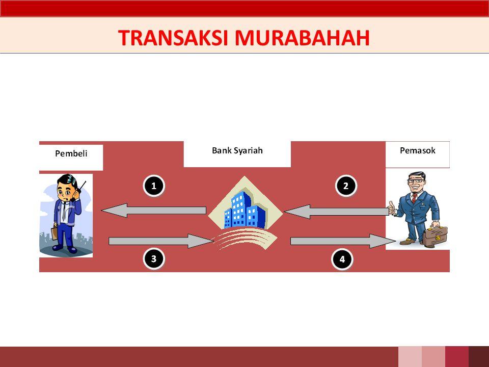 PSAK 102 Akuntansi Murabahah Murabahah adalah transaksi penjualan barang dengan menyatakan harga perolehan dan keuntungan (margin) yang disepakati antara penjual dan pembeli.