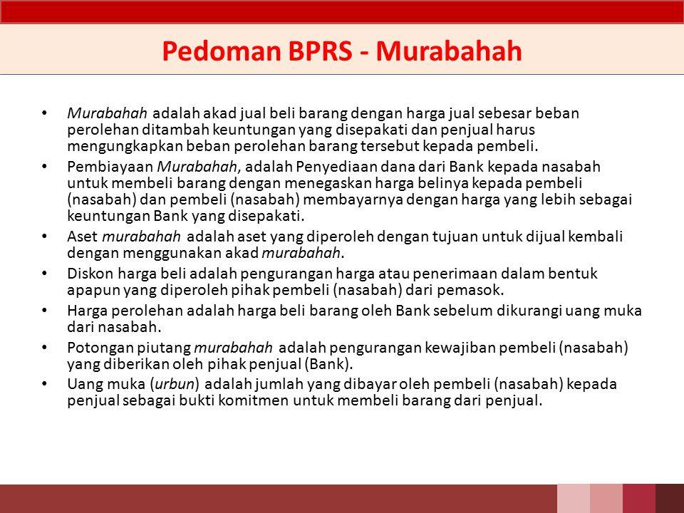 PSAK 102 Akuntansi Murabahah Jenis 1.Murabahah dengan pesanan; Dalam murabahah jenis ini, penjual melakukan pembelian barang setelah ada pemesanan dari pembeli.