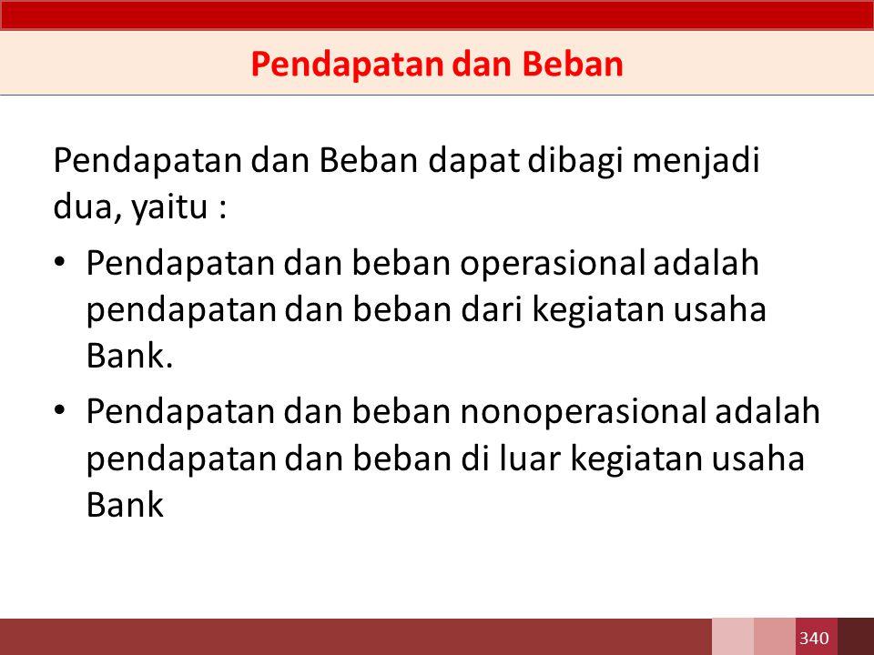 Kerugian Kerugian adalah pos beban lain yang mungkin timbul atau mungkin tidak timbul dalam pelaksanaan aktivitas Bank