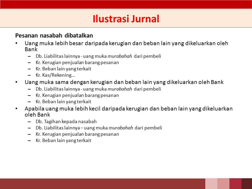 Ilustrasi Jurnal Metode Anuitas dan Metode Proporsional jurnalnya sama, hanya berbeda nilai yang dijurnal Transaksi penjualan – Db.