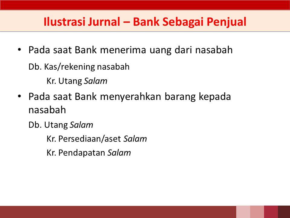 Ilustrasi Jurnal – Bank Sebagai Pembeli Jika Bank mengeksekusi jaminan atas akad Salam a.