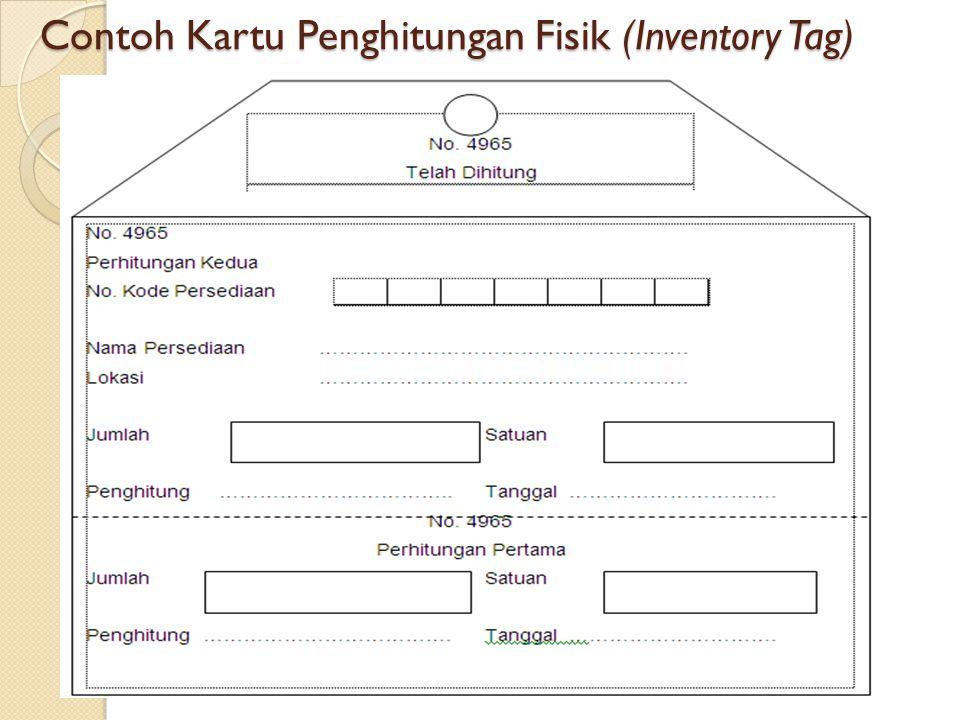 Contoh Kartu Penghitungan Fisik (Inventory Tag)