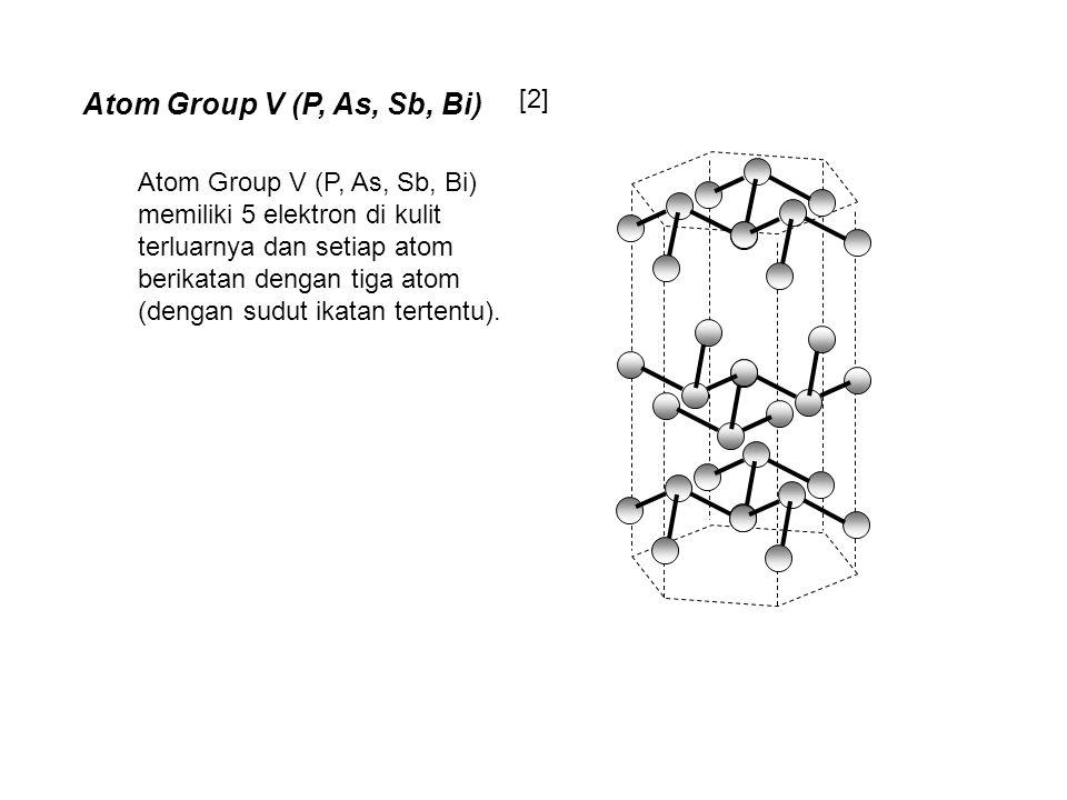Atom Group V (P, As, Sb, Bi) memiliki 5 elektron di kulit terluarnya dan setiap atom berikatan dengan tiga atom (dengan sudut ikatan tertentu). [2] At