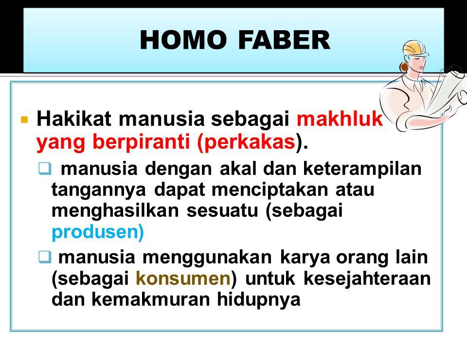 HOMO SAPIENS Hakikat manusia sebagai makhluk yang bijaksana dan dapat berfikir (animal rationale).  manusia sebagai makhluk ciptaan Tuhan yang paling