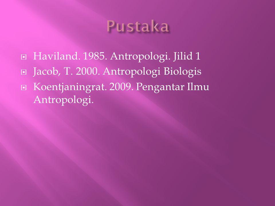  Haviland.1985. Antropologi. Jilid 1  Jacob, T.