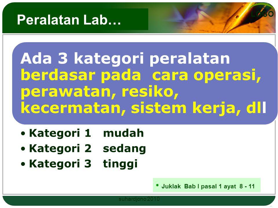 LOGO Lebih jelasnya laboratorium… …. yang digunakan untuk kegiatan pendidikan, penelitian dan pengabdian kepada masyarakat dengan menggunakan peralata