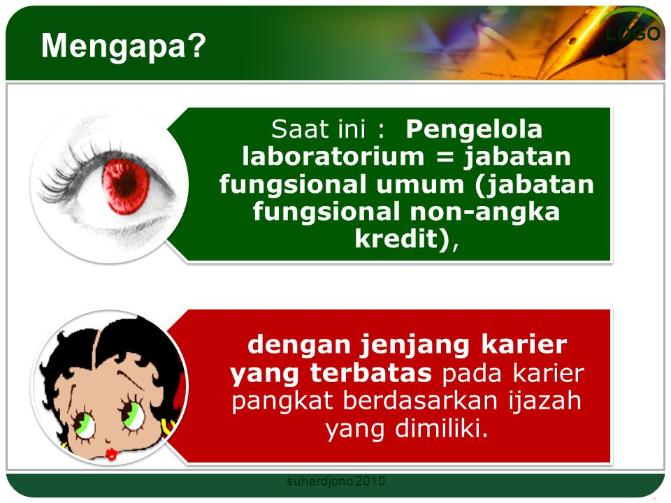 LOGO LABORATORIUM Ada 4 tipe Laboratorium Tipe 1 lab ilmu dasar di sekolah Tipe 2 lab ilmu dasar di PT Tipe 3 lab bidang keilmuan Tipe 4 laboratorium terpadu Juklak Bab I pasal 1 ayat 4 - 7 suhardjono 2010