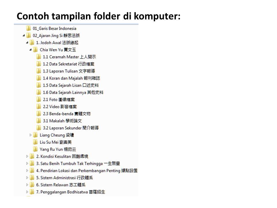 Contoh tampilan folder di komputer: