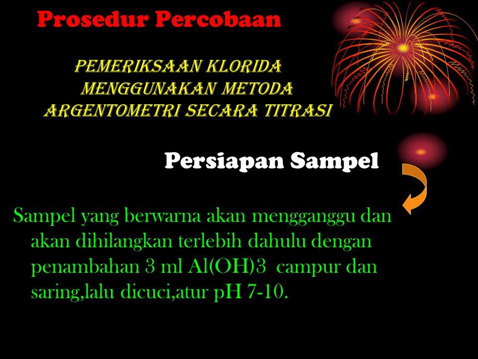 Pengambilan Sampel Sampel yang akan di uji berasal dari air limbah di sekitar laboratorium Kimia FMIPA Universitas Negeri Padang