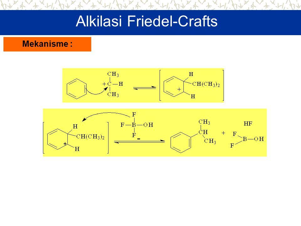 + - Alkilasi Friedel-Crafts Mekanisme :