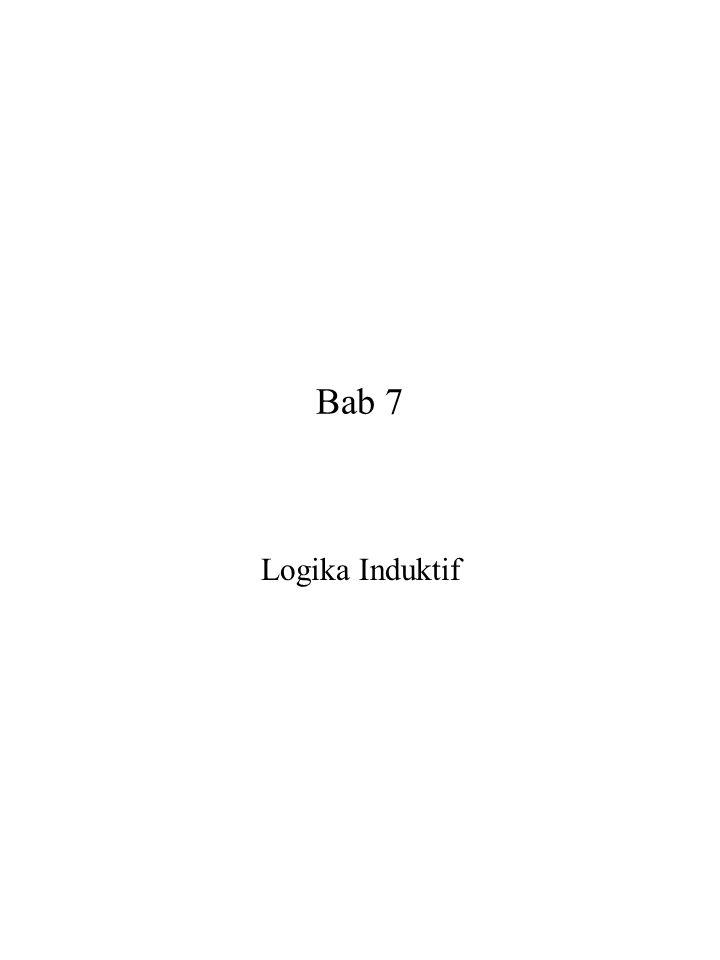 Bab 7 Logika Induktif