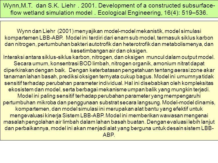 Wynn dan Liehr (2001) menyajikan model-model mekanistik, model simulasi kompartemen LBB-ABP. Model ini terdiri dari enam sub model, termasuk siklus ka