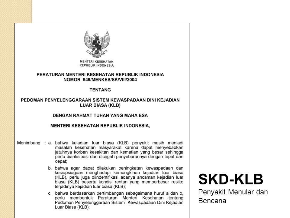 SKD-KLB Penyakit Menular dan Bencana