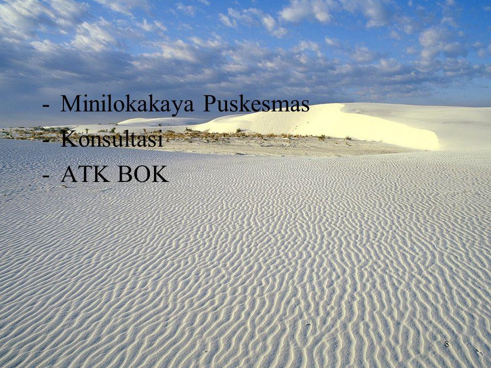 -Minilokakaya Puskesmas -Konsultasi -ATK BOK 8