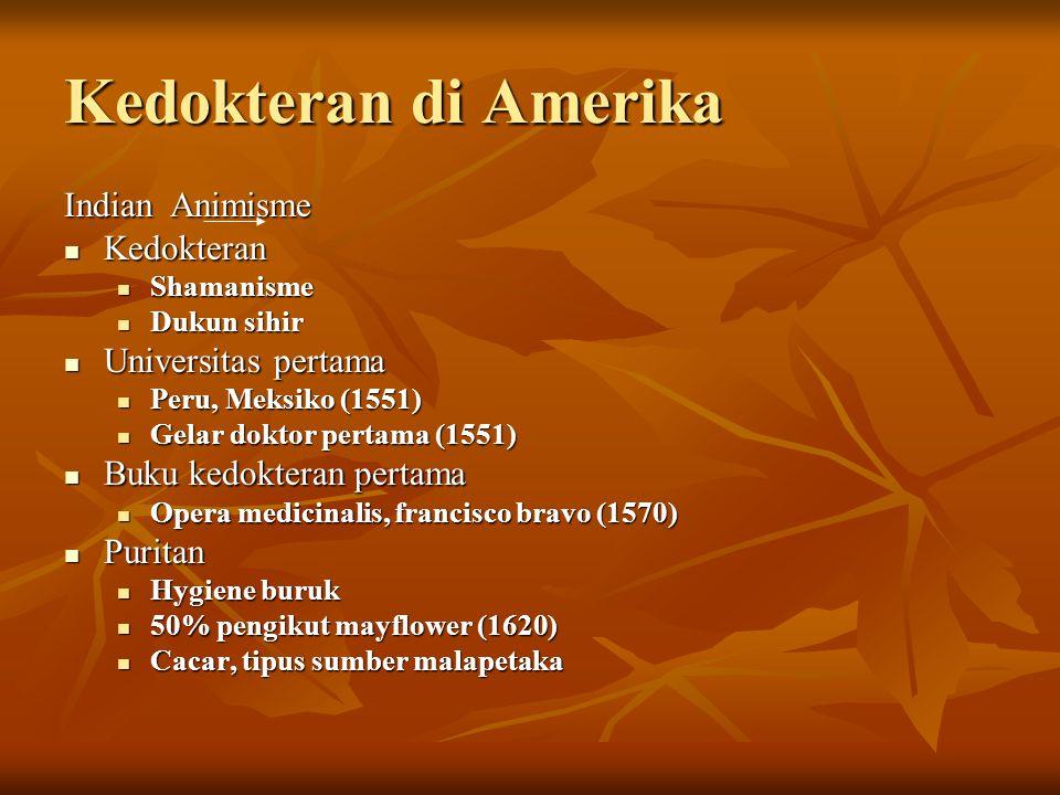 Kedokteran di Amerika IndianAnimisme Kedokteran Kedokteran Shamanisme Shamanisme Dukun sihir Dukun sihir Universitas pertama Universitas pertama Peru,
