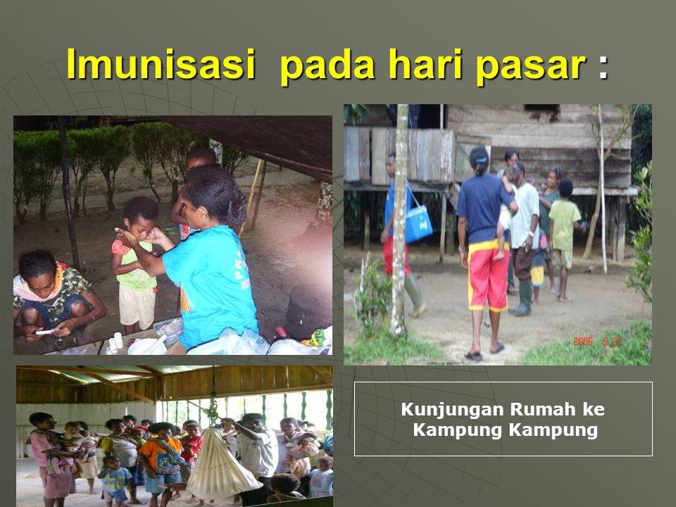 Imunisasi pada hari pasar : Kunjungan Rumah ke Kampung Kampung