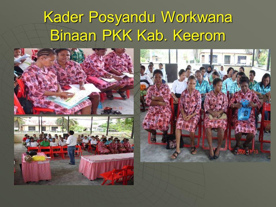 Kader Posyandu Workwana Binaan PKK Kab. Keerom