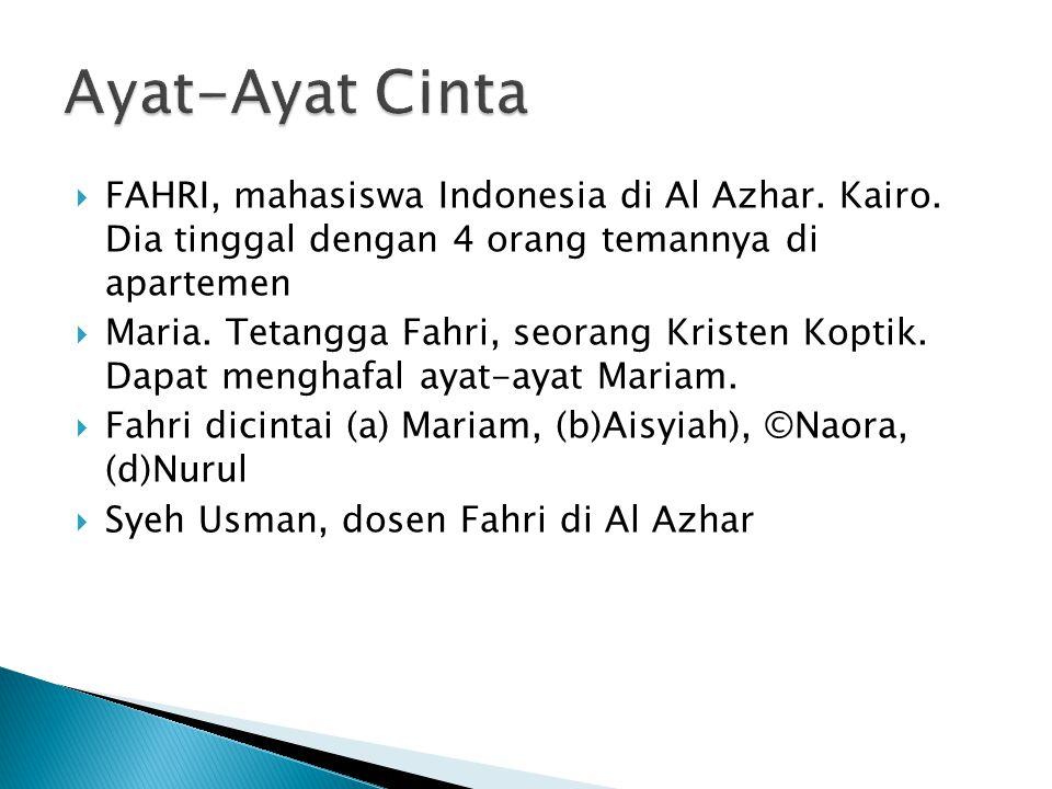  FAHRI, mahasiswa Indonesia di Al Azhar.Kairo.