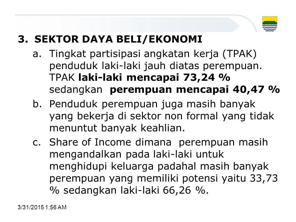 2.SEKTOR KESEHATAN a.AKB dan AKI masih tinggi (AKI 35,99 %) b.