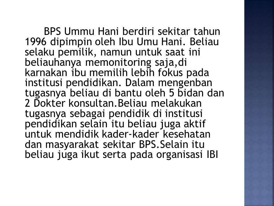 IDENTITAS Nama: Ny. Umu Hani Agama : Islam Suku/ bangsa: Jawa/ Indonesia Pekerjaan: Dosen Pendidikan: D3 Kebidanan Surabaya : D3 Keperawatan Surabaya