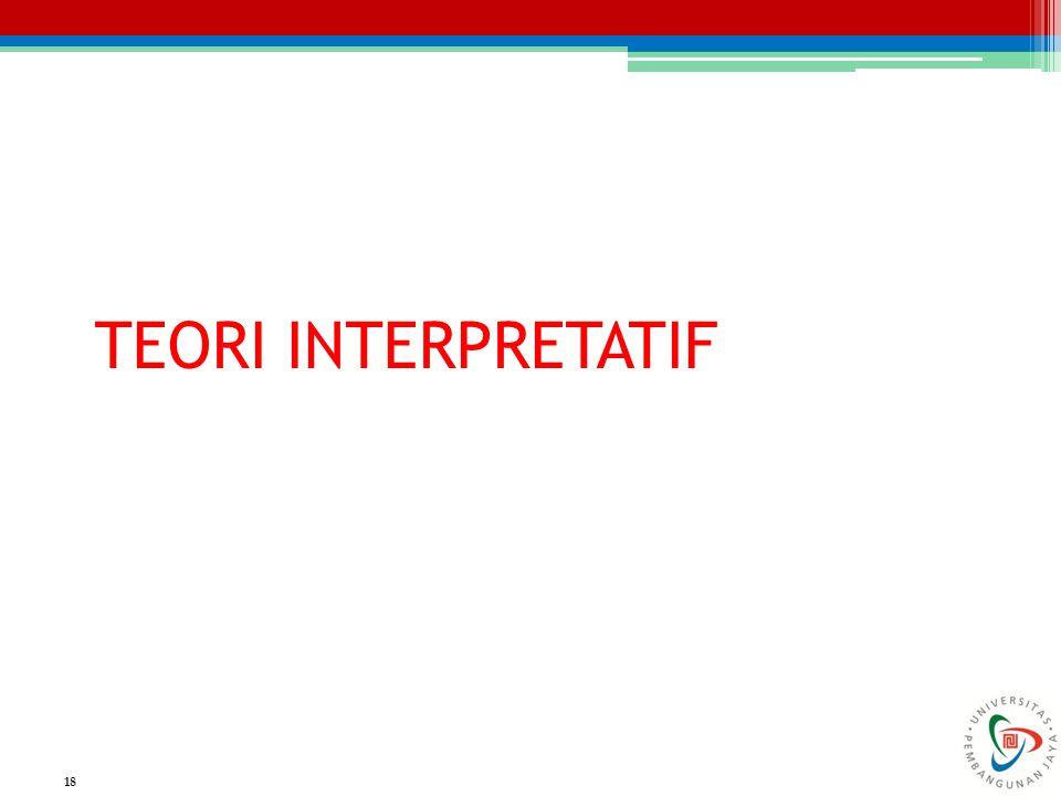 TEORI INTERPRETATIF 18