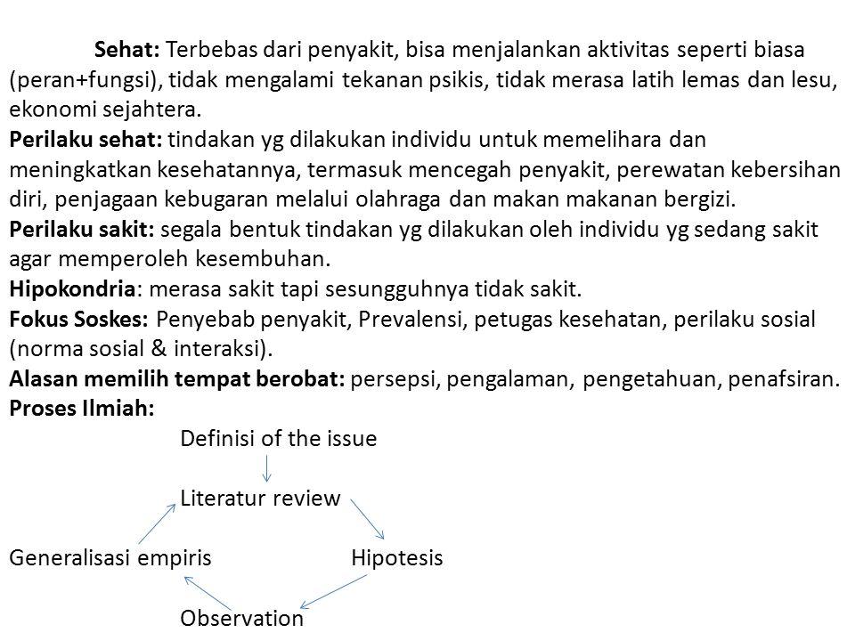 Lima reaksi dalam proses mencari pengobatan (SUCHMAN): 1.