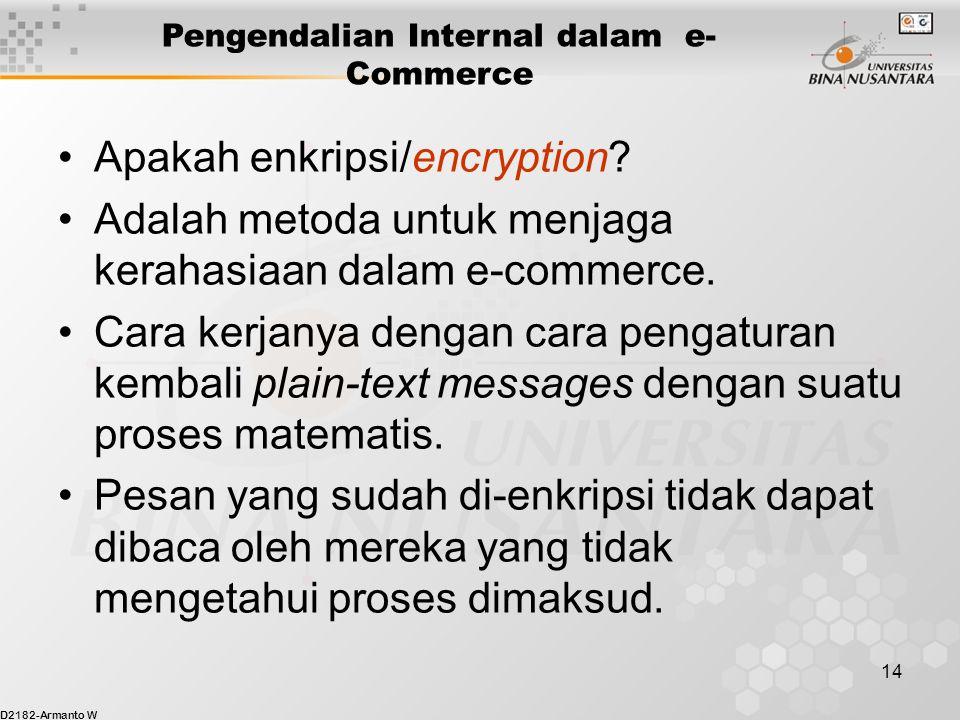 D2182-Armanto W 14 Apakah enkripsi/encryption.