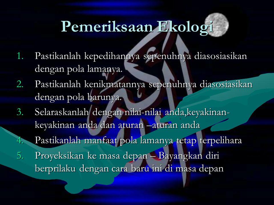 Pemeriksaan Ekologi 1.Pastikanlah kepedihannya sepenuhnya diasosiasikan dengan pola lamanya.