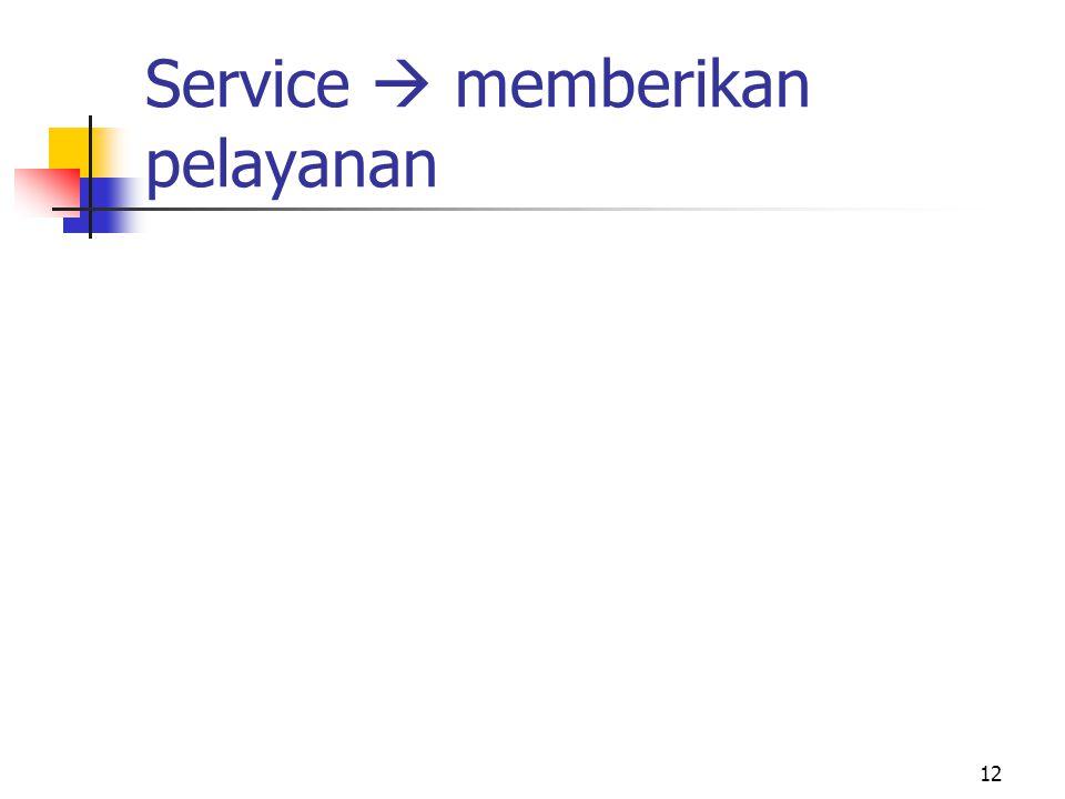 Service  memberikan pelayanan 12