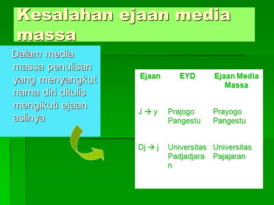 Abjad dalam penulisan bahasa Jurnalistik ? Abjad yang digunakan dalam media mengikuti abjad internasional Konsonankhngnysy Vokalaiauoi