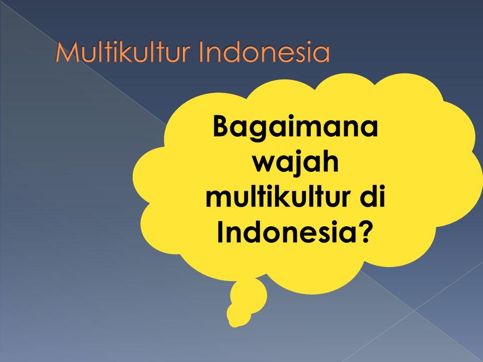 Bagaimana wajah multikultur di Indonesia?
