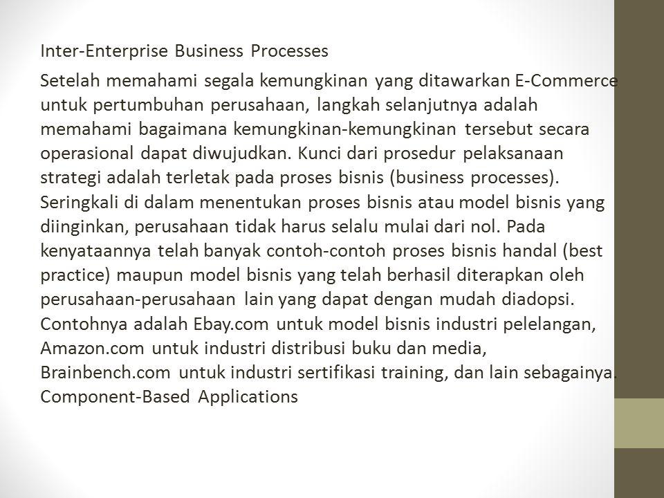 Inter-Enterprise Business Processes Setelah memahami segala kemungkinan yang ditawarkan E-Commerce untuk pertumbuhan perusahaan, langkah selanjutnya a