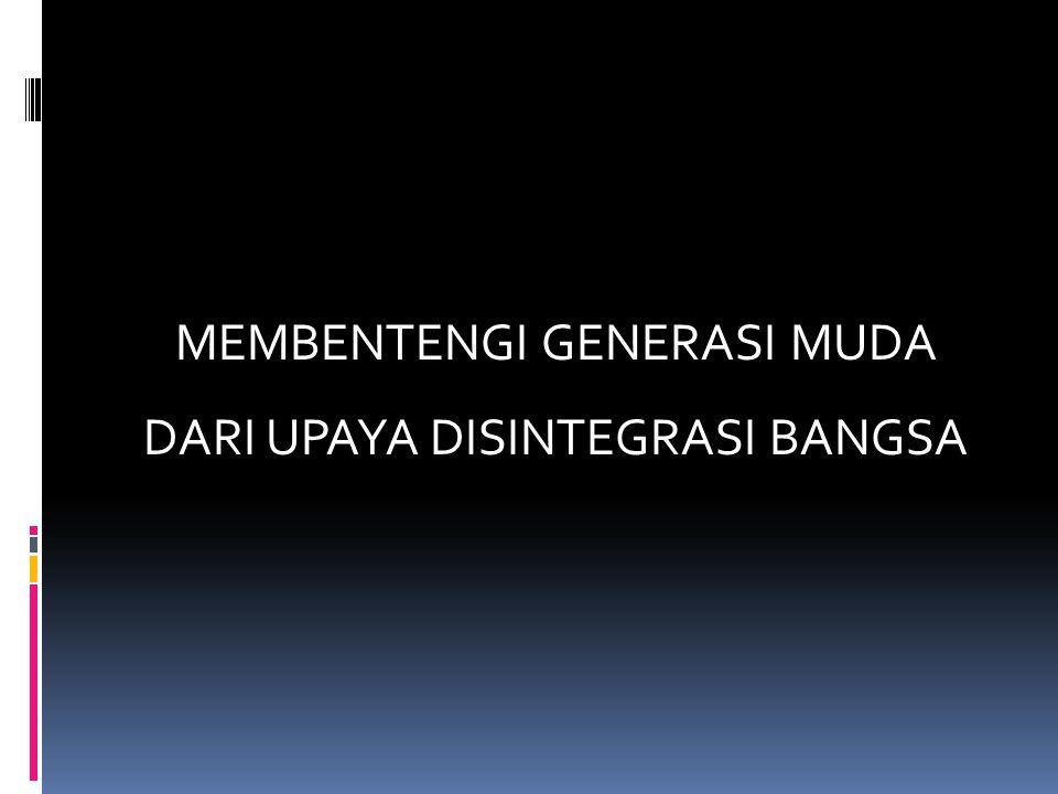 Contoh-contoh kasus disintegrasi Berikut beberapa contoh disintegrasi yang terjadi di Indonesia:  Pergolakan daerah  Protes/demonstrasi yang disertai dengan kericuhan  Kriminalitas  Kenakalan remaja