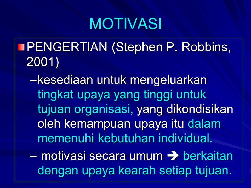 MOTIVASI PENGERTIAN (Stephen P.