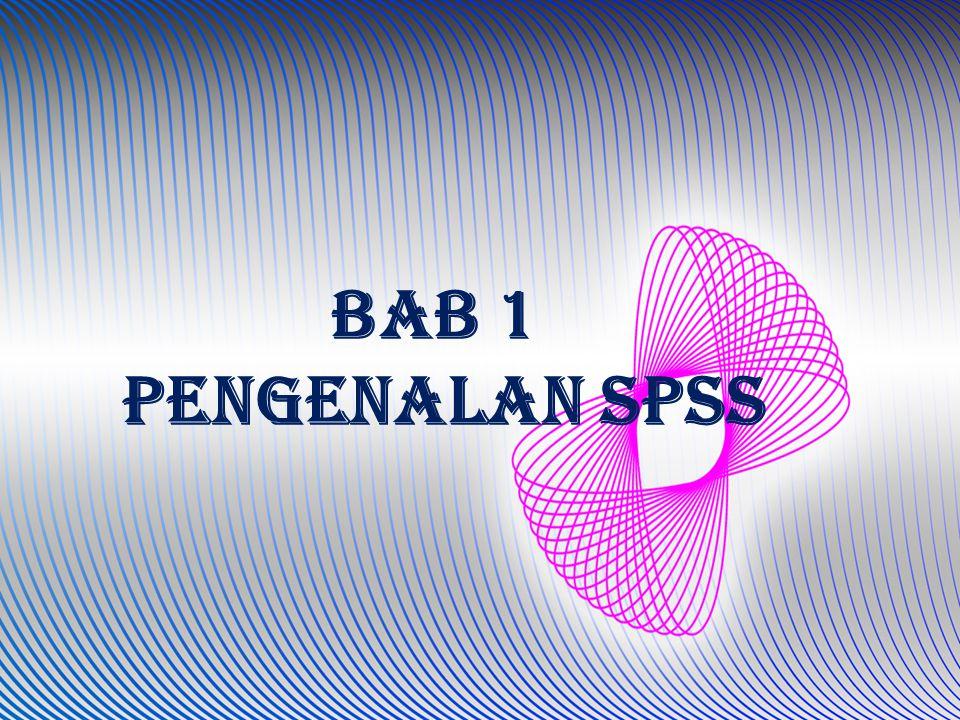 SPSS merupakan software aplikasi statistik yang sangat populer baik bagi praktisi untuk melakukan riset ataupun bagi mahasiswa untuk menyelesaikan tugas akhir mereka SPSS (Statistical Product and Service Solutions)