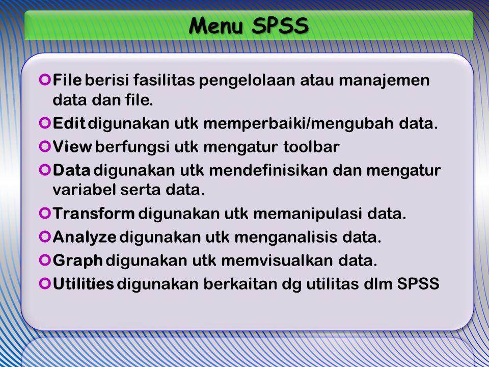 Menu SPSS