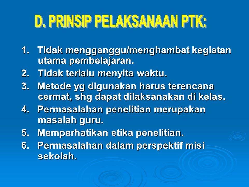 Ada beberapa tahap dalam PTK: A.Identifikasi & Perumusan Masalah A.