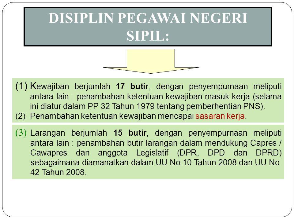 7 (1) Disiplin PNS adalah kesanggupan PNS untuk menaati kewajiban dan menghindari larangan yang ditentukan dalam peraturan perundang-undangan dan/atau
