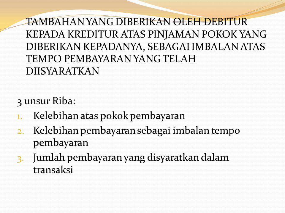  ISLAM  Jabir berkata bahwa Rasulullah SAW mengutuk orang yang menerima riba, orang yang membayarnya dan orang yang mencatatnya, dan dua orang saksinya, kemudian beliau bersabda: Mereka semuanya sama (HR.